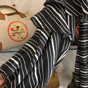 Scripted Dresses - SCRIPTED Soft Black & White Striped Dress/Tunic